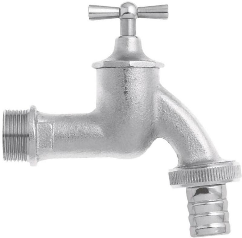 """Wasserhahn 3/4"""" - 19mm 3/4"""" - 19mm MS Cr matt m. Verschraubung"""