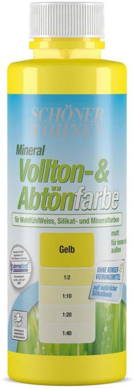 Silikat Vollton-&Abtoenfarbe, gelb, 250 ml