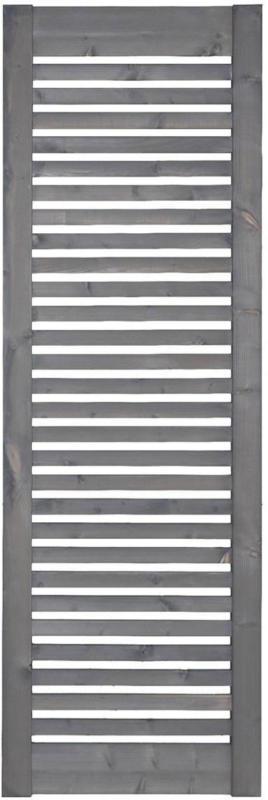 """Zaunserie """"Aalborg"""", Zwischenstück, 60x180 cm, Fichte, basaltgrau lasiert"""