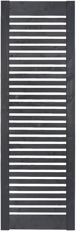 """Zaunserie """"Aalborg"""", Zwischenstück, 60x180 cm, Fichte, anthrazit lasiert"""