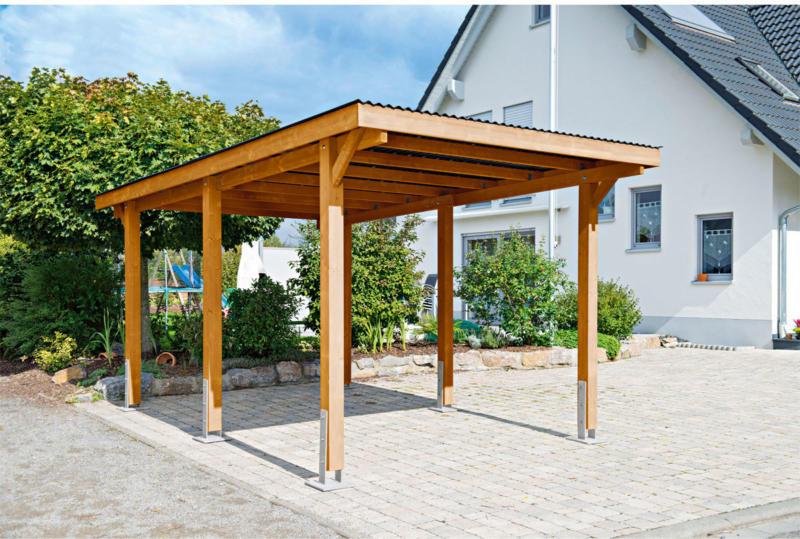 """Carport """"Dortmund"""", 301x504 cm, Fichte unbehandelt PVC   Fichte unbehandelt"""