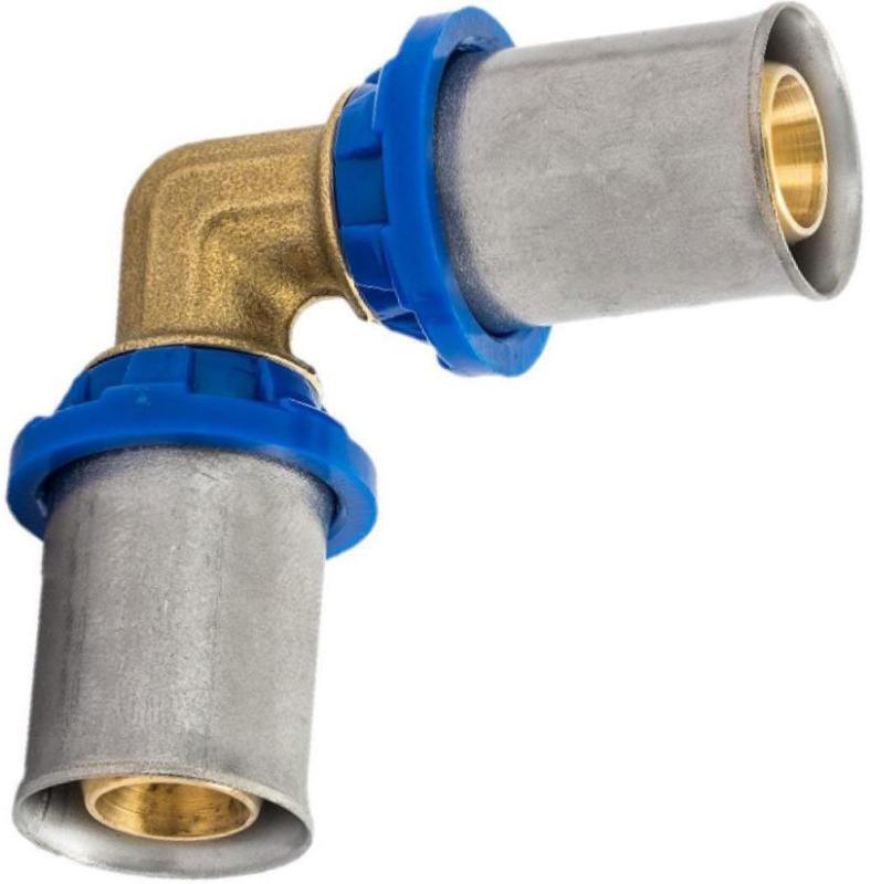 Verbindungswinkel 90°, Pressfitting für Mehrschicht-Verbundrohr, 26 mm 26 mm