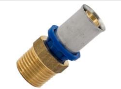 Übergangsstück, Pressfitting für Mehrschicht-Verbundrohr, 26 mmx1AG 26x1 mm