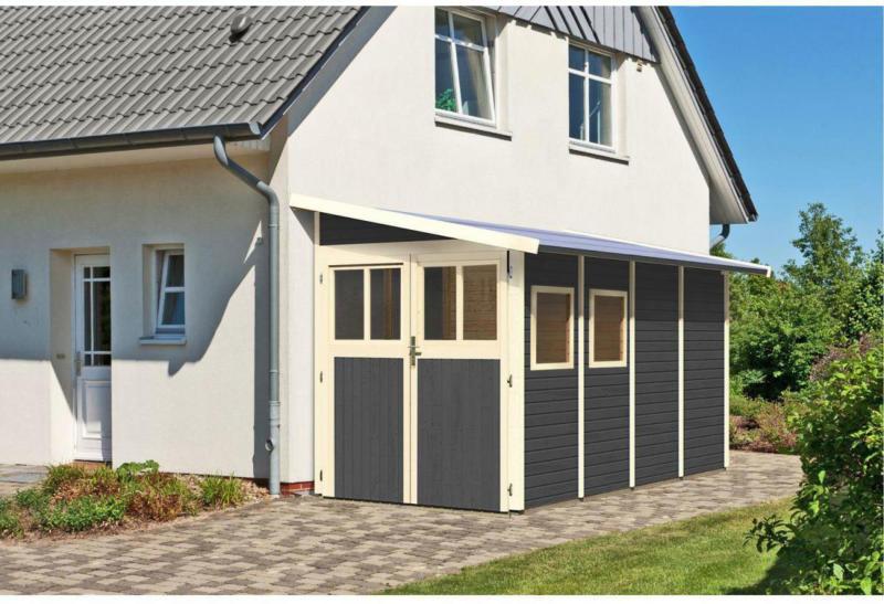 "Gartenhaus ""Wandlitz"", 181x355x230 cm, grau 181x355x230 cm | grau"
