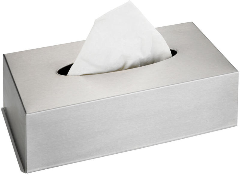 Edelstahlbox für Kosmetiktücher, matt