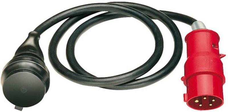 Adapterkabel, 1,5 m, schwarz, CEE-Stecker