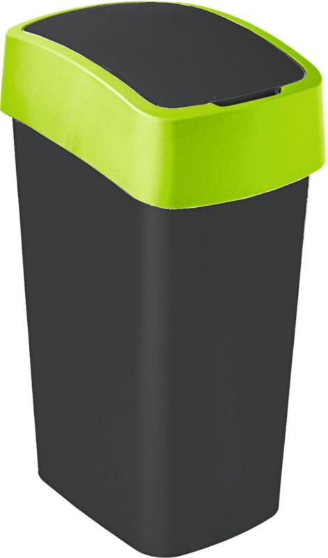 """Abfallbehälter """"Flip Bin"""", 50 L, schwarz/grün"""