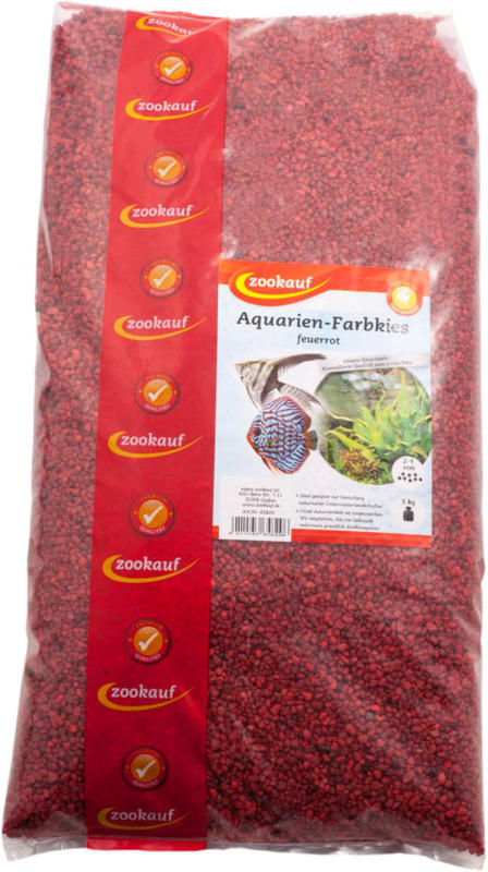 FISCH Aquarien-Farbkies, feuerrot, 2-4 mm, 5kg