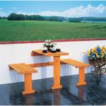 BayWa Bau- & Gartenmärkte Balkonklappgarnitur, mit blauen Auflagen