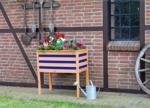 BayWa Bau- & Gartenmärkte Pflanzkasten auf Beinen, honigbraun/blau