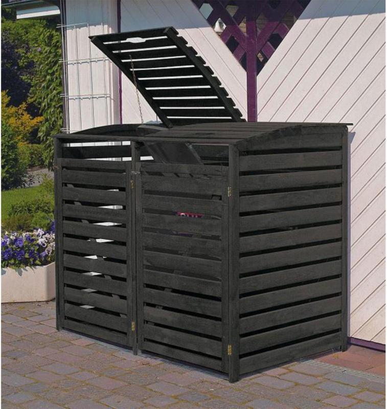 "Mülltonnenbox ""Vario III"" für 2 Tonnen, anthrazit"