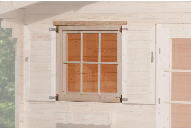 """Einzelfenster für Gartenhaus """"45 mm"""", 91x91 cm"""