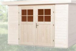 """Zusatzdoppeltür für Gartenhaus """"45 mm"""", 183x182 cm"""