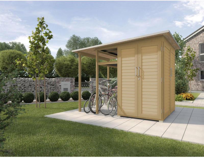 """Gerätehaus Garten [Q] """"Modul Family"""", natur"""