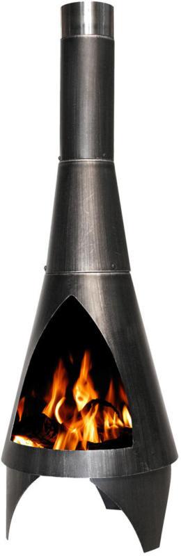 """Gartenkamin """"Colorado"""", silber-schwarz, 40x105x40 cm 40x105x40 cm"""