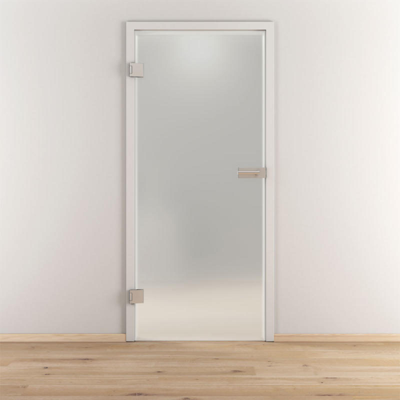 "Glasdrehtür ""NOVA 501"", mattiert, 95,9x197,2cm , Links 95,9 cm | links"