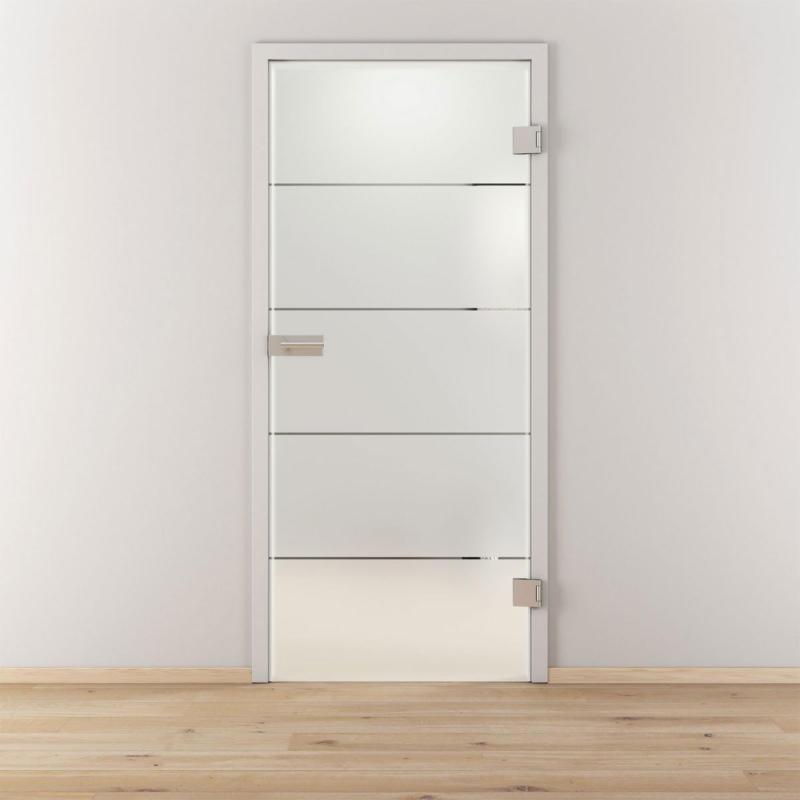 """Glasdrehtür """"NOVA 503"""", mattiert, 95,9x197,2 cm, Rechts 95,9 cm   rechts"""