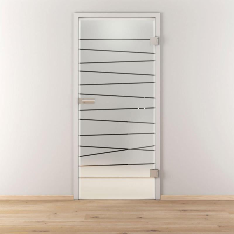 """Glasdrehtür """"NOVA 514"""", mattiert, 95,9x197,2 cm, Rechts 95,9 cm   rechts"""