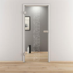 "Glasdrehtür ""NOVA 504"", klar, 95,9x197,2 cm, Links 95,9 cm | links"