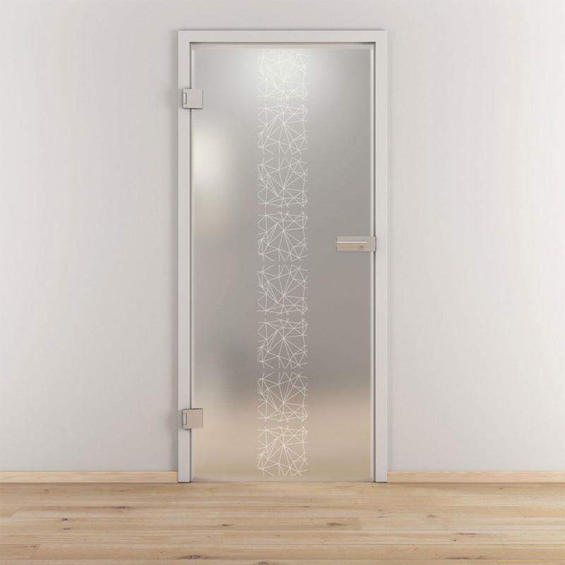 "Glasdrehtür ""NOVA 504"", mattiert, 95,9x197,2cm , Links 95,9 cm | links"