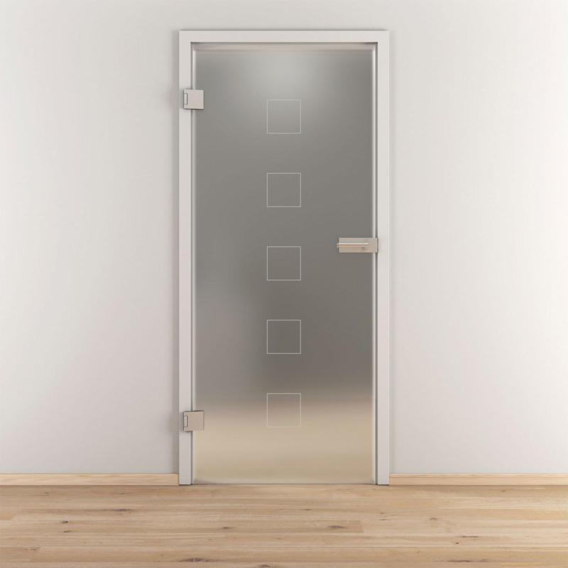"Glasdrehtür ""NOVA 505"", mattiert, 95,9x197,2cm , Links 95,9 cm | links"