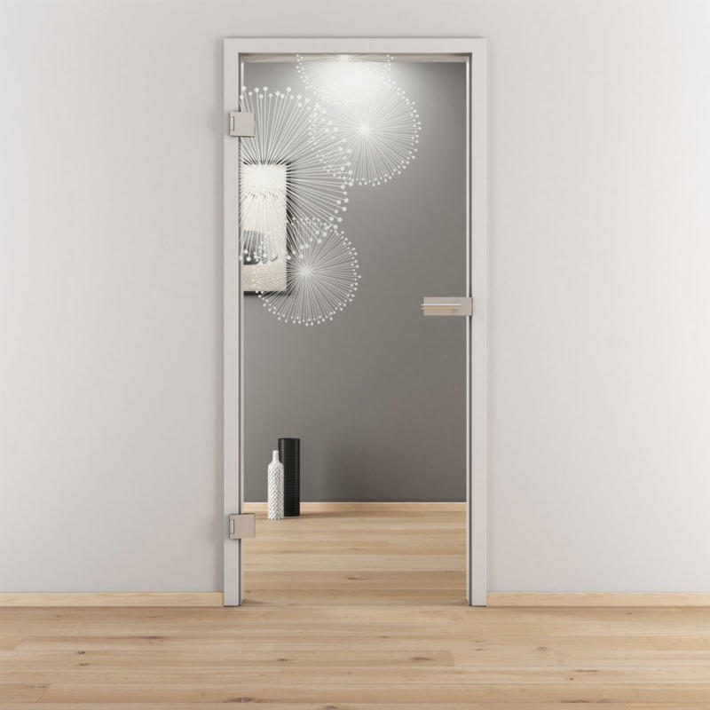 "Glasdrehtür ""NOVA 507"", klar, 95,9x197,2 cm, Links 95,9 cm | links"