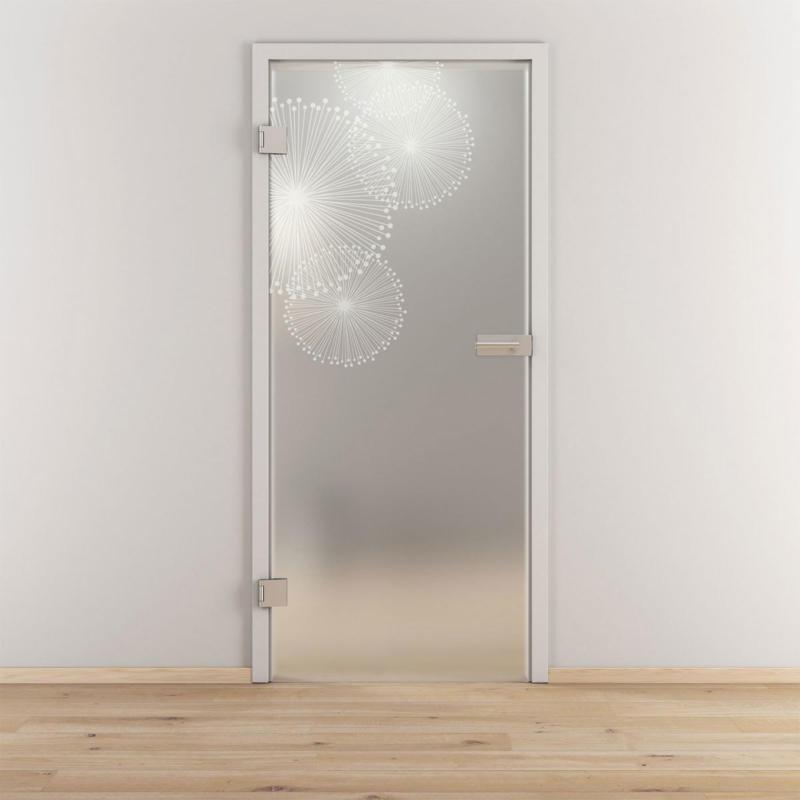 "Glasdrehtür ""NOVA 507"", mattiert, 95,9x197,2cm , Links 95,9 cm | links"