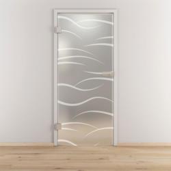 "Glasdrehtür ""NOVA 540"", mattiert, 95,9x197,2cm , Links 95,9 cm | links"