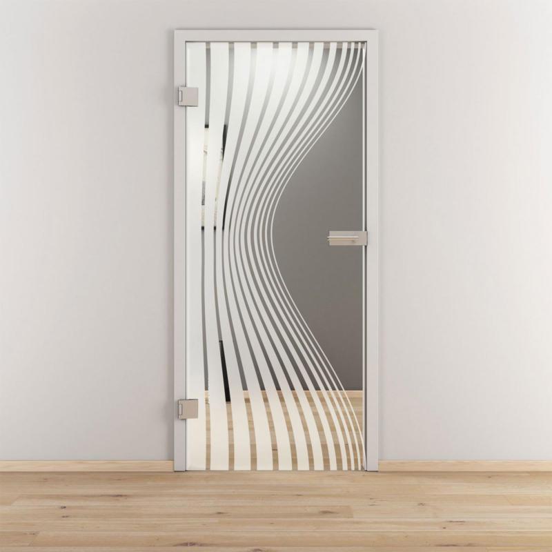 "Glasdrehtür ""NOVA 543"", klar, 95,9x197,2 cm, Links 95,9 cm | links"