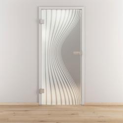 "Glasdrehtür ""NOVA 543"", mattiert, 95,9x197,2cm , Links 95,9 cm | links"
