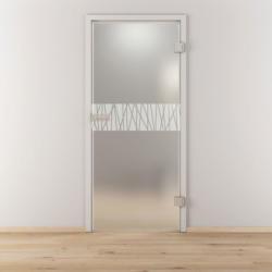 """Glasdrehtür """"NOVA 546"""", mattiert, 95,9x197,2 cm, Rechts 95,9 cm   rechts"""