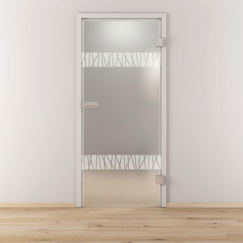 """Glasdrehtür """"NOVA 550"""", mattiert, 95,9x197,2 cm, Rechts 95,9 cm   rechts"""