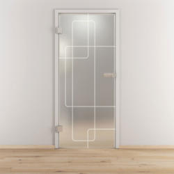 "Glasdrehtür ""NOVA 553"", mattiert, 95,9x197,2cm , Links 95,9 cm | links"