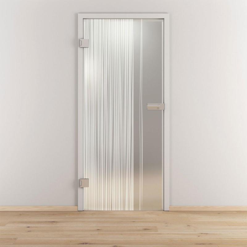 "Glasdrehtür ""NOVA 584"", mattiert, 95,9x197,2cm , Links 95,9 cm | links"