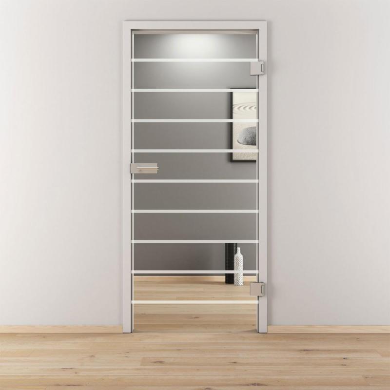 "Glasdrehtür ""NOVA 592"", klar, 95,9x197,2 cm, Rechts 95,9 cm | rechts"