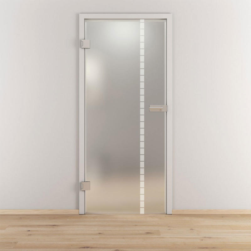 "Glasdrehtür ""NOVA 598"", mattiert, 95,9x197,2cm , Links 95,9 cm | links"