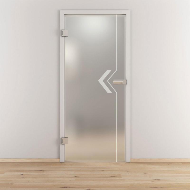 "Glasdrehtür ""NOVA 599"", mattiert, 95,9x197,2cm , Links 95,9 cm | links"