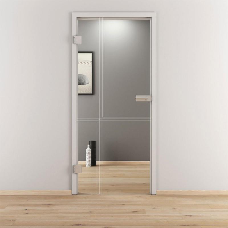 "Glasdrehtür ""NOVA 610"", klar, 95,9x197,2 cm, Links 95,9 cm | links"