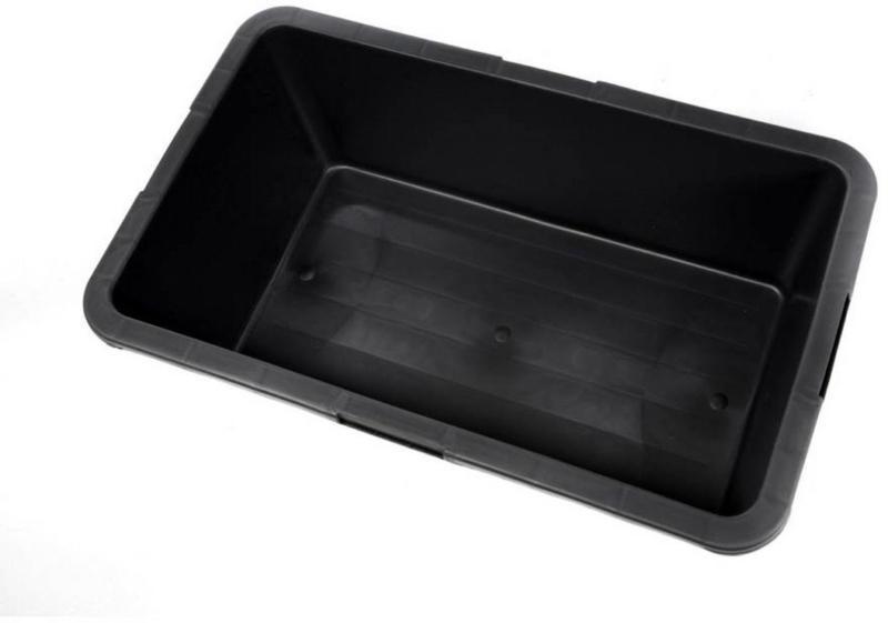 Mörtelkübel 40 L, eckig, schwarz, 5 Stück 40 kg