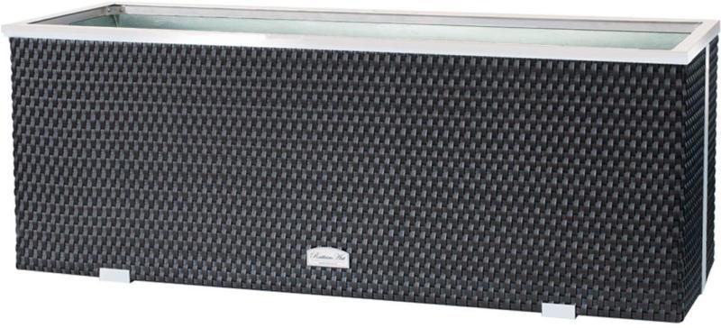 Rattan-Pflanzgefäß 108x39x43 cm, Kunststoff