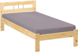 """Bett """"Jana"""", Natur lackiert, 96x72x205 cm"""