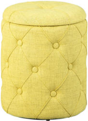 """Hocker """"Yapak"""", gelbgrün, mit 22 Knöpfen, 34x40x34 cm"""