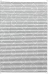 EASYFIX Plissee Dekor mit 2 Bedienschienen, ohne Bohren, 90x130 cm, Curl grau 90x130