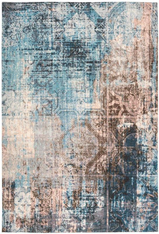 """Flachflorteppich """"Indiana 300"""", blau/braun 80x150 cm"""