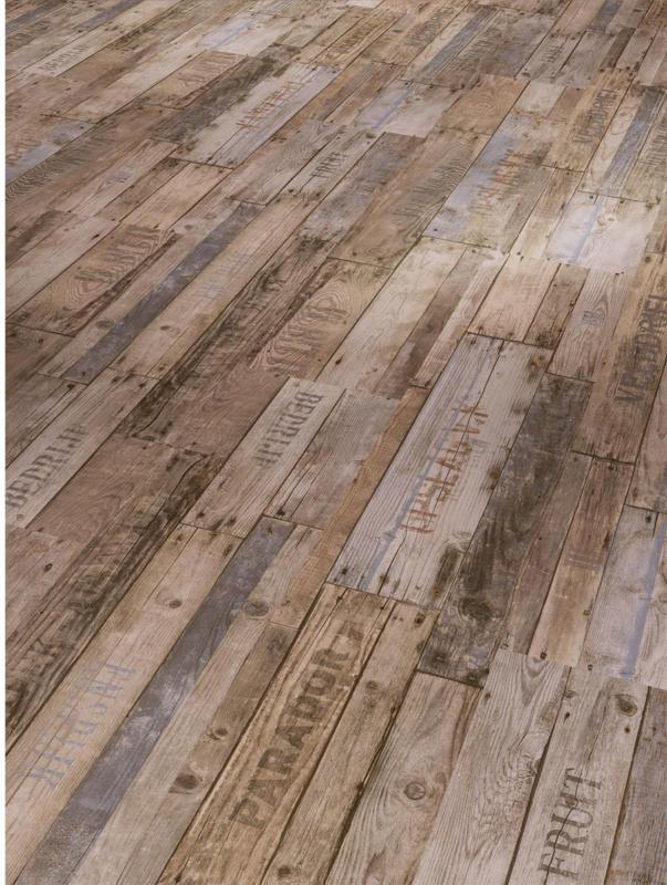 """Vinylboden """"Classic 2050"""", Boxwood Vintage braun, gebürstete Struktur, 21,9x120,9 cm"""