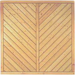 """Zaunserie """"LENINGRAD"""", sibierische Lärche, 180 x 180 cm"""