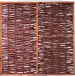 """Weidengeflechtzaun """"FOGO"""",  mit Rahmen und Strebe, 180 x 180 cm"""
