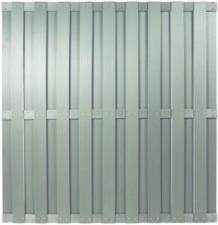 "Zaunserie ""SHANGHAI"", silbergrau, 180 x 180 cm, WPC-Bretterzaun"
