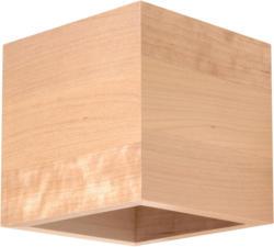 "Wandleuchte ""Quad"", Holz, beige braun | Holz"