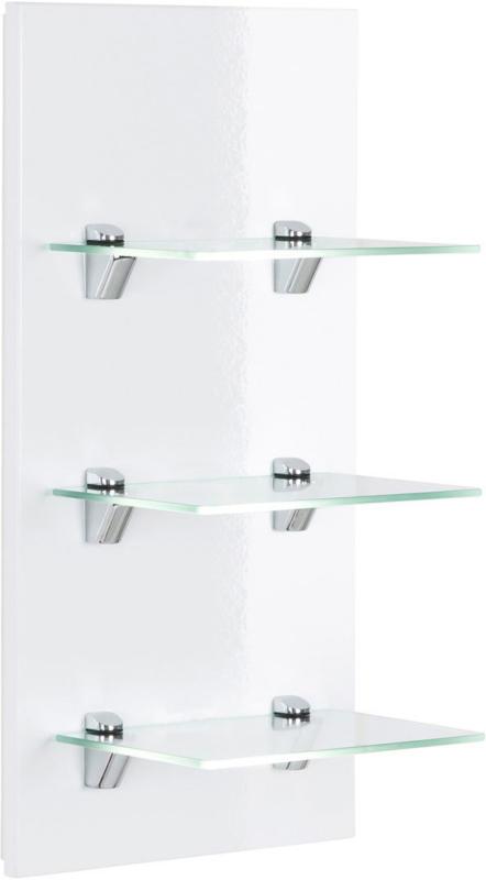 """Panel """"VIVA"""", mit 3 Glasablagen, weiß hochglanz weiß"""